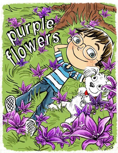 Lynne Dempsey Purple Flowers