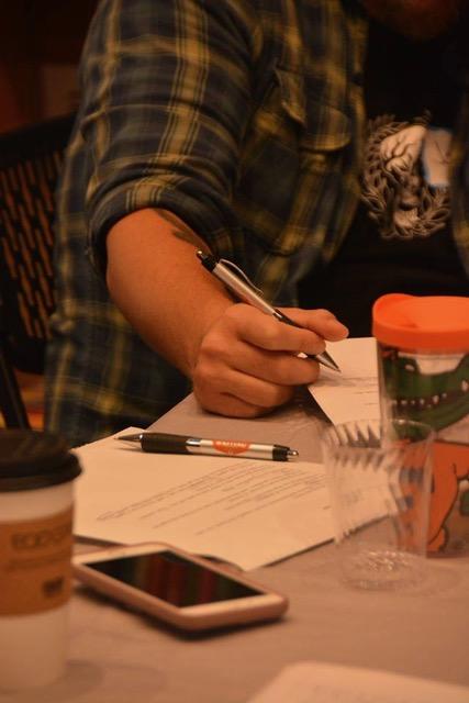 Hand Writing with Writing Barn Pen
