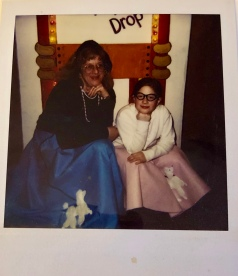 """""""My mom and I circa 1995 at a 1950s-themed school dance."""""""
